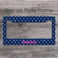 Preppy anchors nautical design plate frame